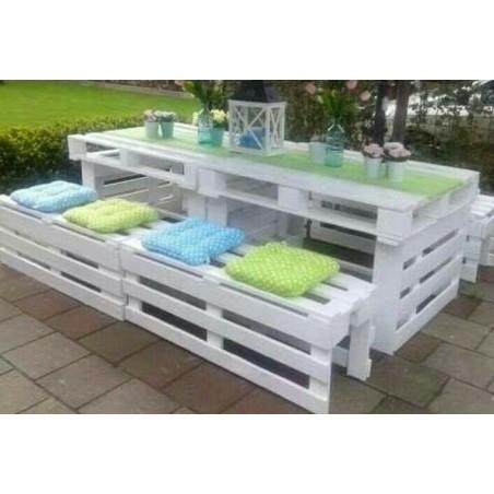 Tavoli con panche in legno con Pallet Bancali EUR EPAL ...
