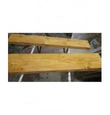 Mensole in olmo in legno massello vecchio naturale 120x25 cm